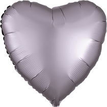 Satin Luxe Greige Heart Foil Balloon