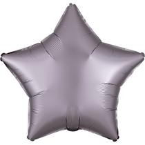 Satin Luxe Pastel Greige Star Foil Balloon