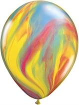 "Qualatex Traditional 11"" SuperAgate Latex Balloons 25pk"