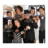 Hollywood Photo Booth Props 12pce