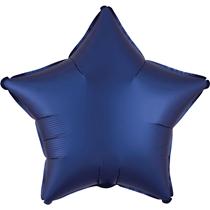 Satin Luxe Navy Star Foil Balloon