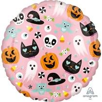 "Halloween Fun Pink 18"" Foil Balloon"