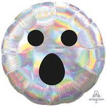 "Halloween Iridescent Ghost Face 18"" Foil Balloon"