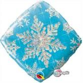 "Holographic Blue Snowflake Foil Balloon 18"""
