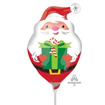Christmas Santa Foil Air Fill Mini Shape Balloon