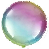 "Rainbow Gradient Pastel 18"" Round Foil Balloon"
