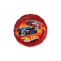 "Hot Cars Mini 9"" Round Foil Balloon"