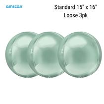 Amscan Mint Green Orbz Foil Balloons