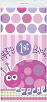 "1st Birthday Ladybug Plastic Tablecover 54""x 108"""