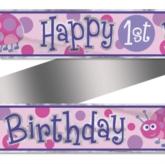 1st Birthday Ladybug Foil Banner 12ft