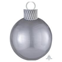Christmas Silver Orbz Ornament Balloon Kit