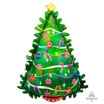 Christmas Tree Holographic Supershape Foil Balloon