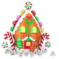 Christmas Gingerbread House Supershape Foil Balloon