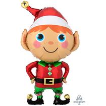 "Christmas Elf SuperShape 35"" Foil Balloon"