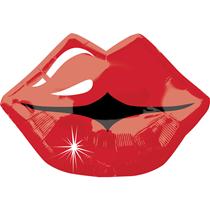 Kissy Lips Red Junior Shape Foil Balloon