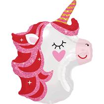 Pretty Pink Unicorn Junior Shape Foil Balloon