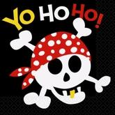 16 Pirate Fun Luncheon Napkins