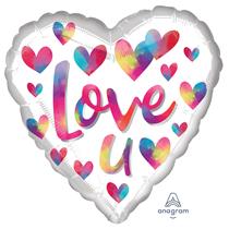 "Valentine's Love U 18"" Heart Foil Balloon"