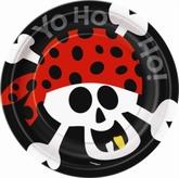 """8 Pirate Fun 7"""" Paper Plates"""