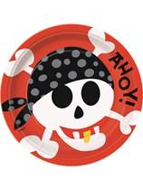 "8 Pirate Fun Large 9"" Paper Plates"