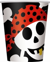 8 Pirate Fun 9oz Paper Cups