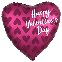 """Valentine's Satin Infused 18"""" Heart Foil Balloon"""