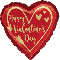 "Valentine's Day Arrow 18"" Heart Foil Balloon"