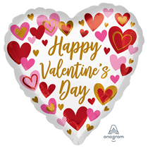 "Valentine's Playful Hearts 18"" Foil Balloon"
