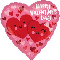"Valentine's Day Hearts 18"" Foil Balloon"