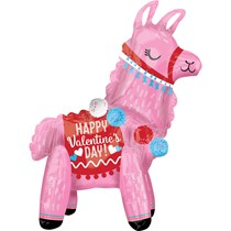 """Valentine's Day Standing Air Fill 22"""" Llama"""