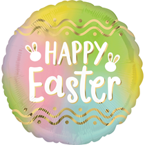 """Happy Easter Ombre 18"""" Foil Balloon"""