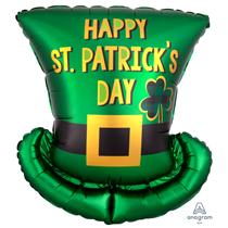 "St. Patrick's Day Hat 24"" Foil Balloon"