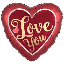 "Valentine's Satin Sangria 28"" Heart Foil Balloon"
