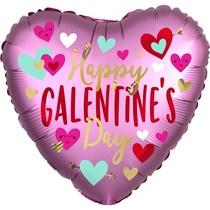 "Galentine's Day 18"" Pink Satin Foil Balloon"