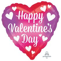 "Valentine's Colour Splash 18"" Heart Foil Balloon"