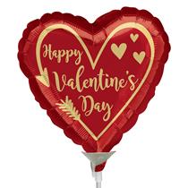 Valentine's Arrow Heart Mini Shape Foil Balloon