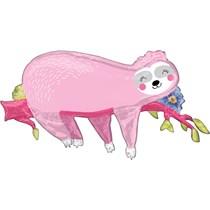 "Sleepy Pink Sloth SuperShape 37"" Foil Balloon"