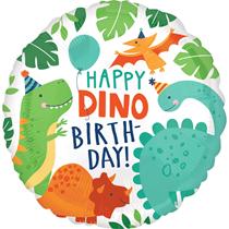 "Happy Dino Birthday Dinosaur 18"" Foil Balloon"