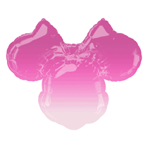 """Minnie Mouse Head Ombre 28"""" Foil SuperShape Balloon"""