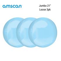 """Jumbo Pastel Blue 21"""" Orbz Foil Balloon"""
