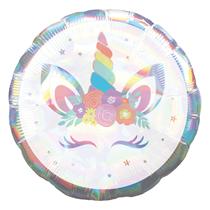 """Iridescent Unicorn Party 18"""" Foil Balloon"""