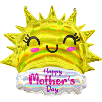 """Mother's Day Smiling Sun 35"""" Foil SuperShape Balloon"""