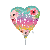 Mother's Day Ombre Flowers Mini Foil Balloon