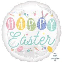 "Easter Pastel 18"" Foil Balloon"