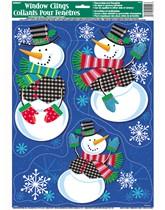 Christmas Snowman Window Clings 3pk