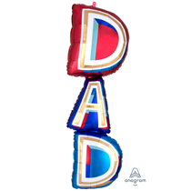 "Dad SuperShape 39"" Foil Balloon"