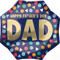 """Happy Father's Day Dad 22"""" SuperShape Foil Balloon"""