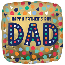 """Happy Father's Day Dad 18"""" Foil Balloon"""