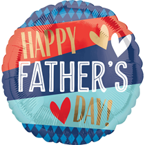 """Father's Day Stripes 18"""" Foil Balloon"""