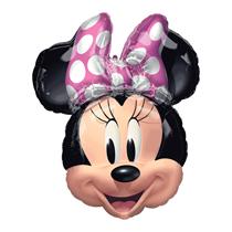 "Minnie Mouse Head 26"" Foil SuperShape Balloon"